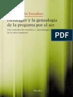 Escudero Jesus Adrian - Heidegger Y La Genealogia De La Pregunta Por El Ser.pdf