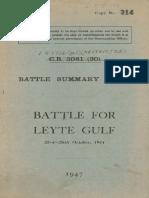 Battle Summary No 40 Battle for Lyte Gulf