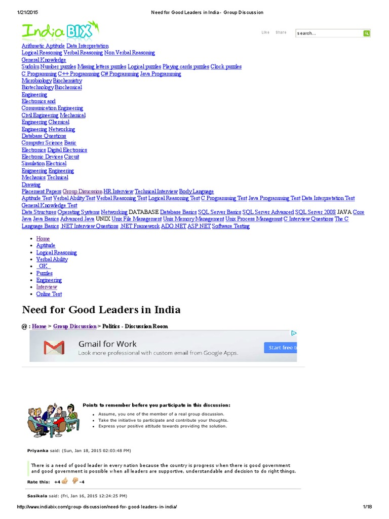 Need for good leaders in india group discussion leadership need for good leaders in india group discussion leadership mentoring leadership malvernweather Choice Image