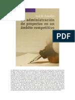 La Administración de Proyectos a Nivel Competitivo