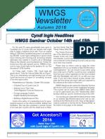 2016 WMGS Fall Newsletter