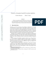 towards a dynamical model for prime numbers