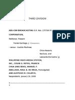 ABS-CBN Broadcasting Corporation vs. Phil Multi Media Inc (576 SCRA 262)