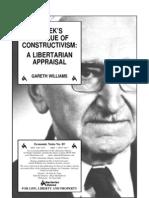 Hayek's Critique of Constructivism