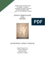 Latín III B-Textos y Ejercitación Para Tutoría 2015