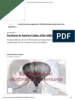 Escritoras de América Latina, Al Fin Visibles _ Babelia _ EL PAÍS