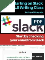 starting on slack for gls writing seminar