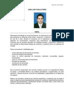 Hoja de Vida Jose Luis Ovalle Peña