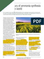 How Amonia Synthesis Change World