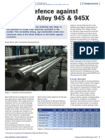 The Last Defence Against Corrosion Alloy 945 and 945X