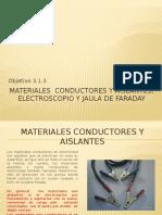3.1.3Materiales Conductores y Aislantes, Electroscopio y Jaula de Faraday