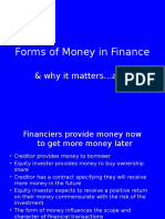 Forms of Money in Finance