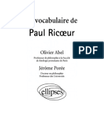Abel Olivier, Le Vocabulaire de Paul Ricoeur (Ellipses, 2007)