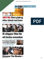 Expressen _ Senaste nytt - Nyheter Sport Nöje TV _ Expressen