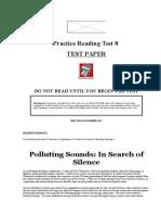 Practice Reading Test 8