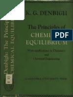 The Principles of Chemical Equilibrium - 1st Ed - Denbigh