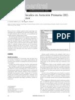 Infiltraciones Locales en Atención Primaria (III). Miembro Inferior
