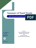 Summary of Travel Trends 2001