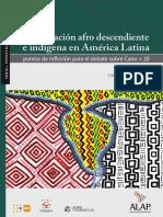 La Poblacion Afrodescendiente e Indigena en América Latina