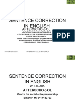 16927692 Sentence Correction in English