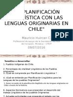 La Planificación Lingüística de Las Lenguas Originarias