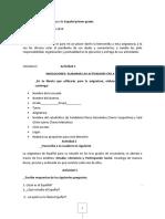 Actividad de La Asignatura de Español 1er Grado