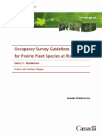 Aug 2009-Rare Plant Occupancy Survey Guidelines
