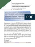 Fabrication of rotating bending type fatigue testing machine