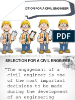 Selection for a Civil Engineer Edited