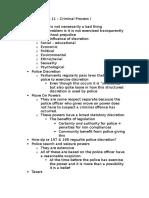LLB 130 – Week 11 – Criminal Process I