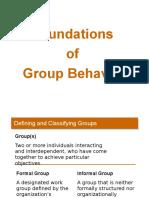 Foundation of Group Behaviour