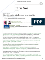 Noesiterapia-Vindecarea Prin Gandire – Totul Pentru Noi