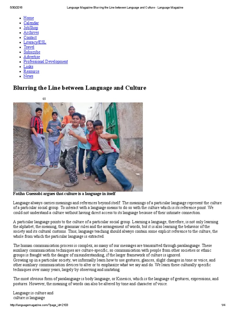 relationship between language and culture pdf