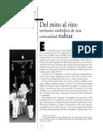 Del Mito Al Rito_ Territorio Simbólico de Una Comunidad Nahua _ Sánchez Mastranzo _ Antropología