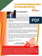 Lettre de l'Union régionale socialiste PACA n°1