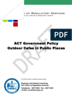 Draft Outdoor Cafe Policy