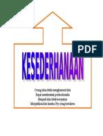 2.KESEDERHANAAN
