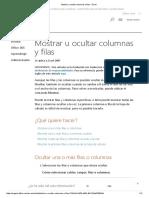 Mostrar u Ocultar Columnas y Filas - Excel