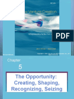 5) the Opportunity Creating, Shaping, Recognizing, Seizing