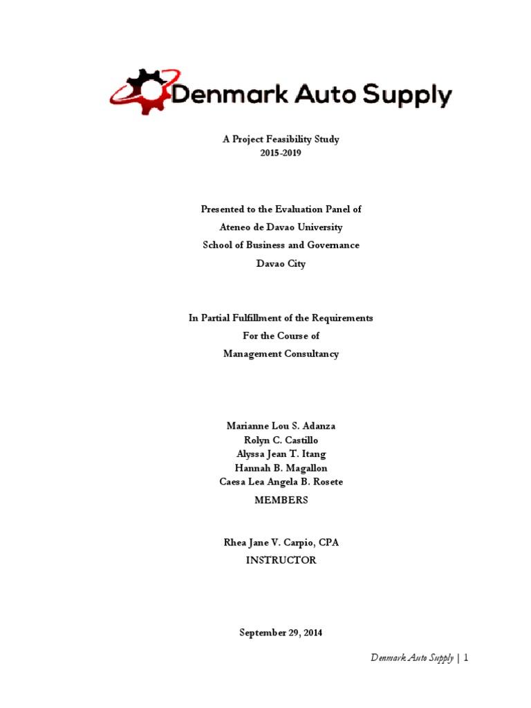 denmark auto supply feasibility study sole proprietorship. Black Bedroom Furniture Sets. Home Design Ideas
