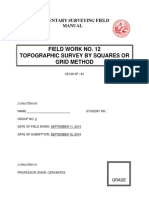 Field Work No. 12 Topographic Survey by Squares or Grid Method