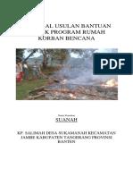Contoh Proposal Bantuan Bencana CSR