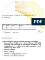 Comparison of Atoll & Planet for LTE Planning