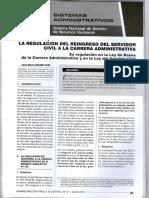 Reingreso Del Servidor a La Carrera Administrativa - Autor Jose María Pacori Cari082
