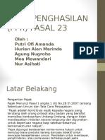 PAJAK PENGHASILAN (PPh) PASAL 23.ppt