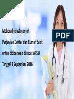 Perjanjian Dokter Dan RS Poster