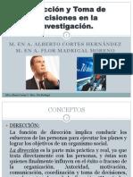 toma de decisiones en la investigación CORTES Y MADRIGAL