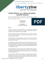 Direito Natural, Ou a Ciência Da Justiça - Lysander Spooner - Libertyzine