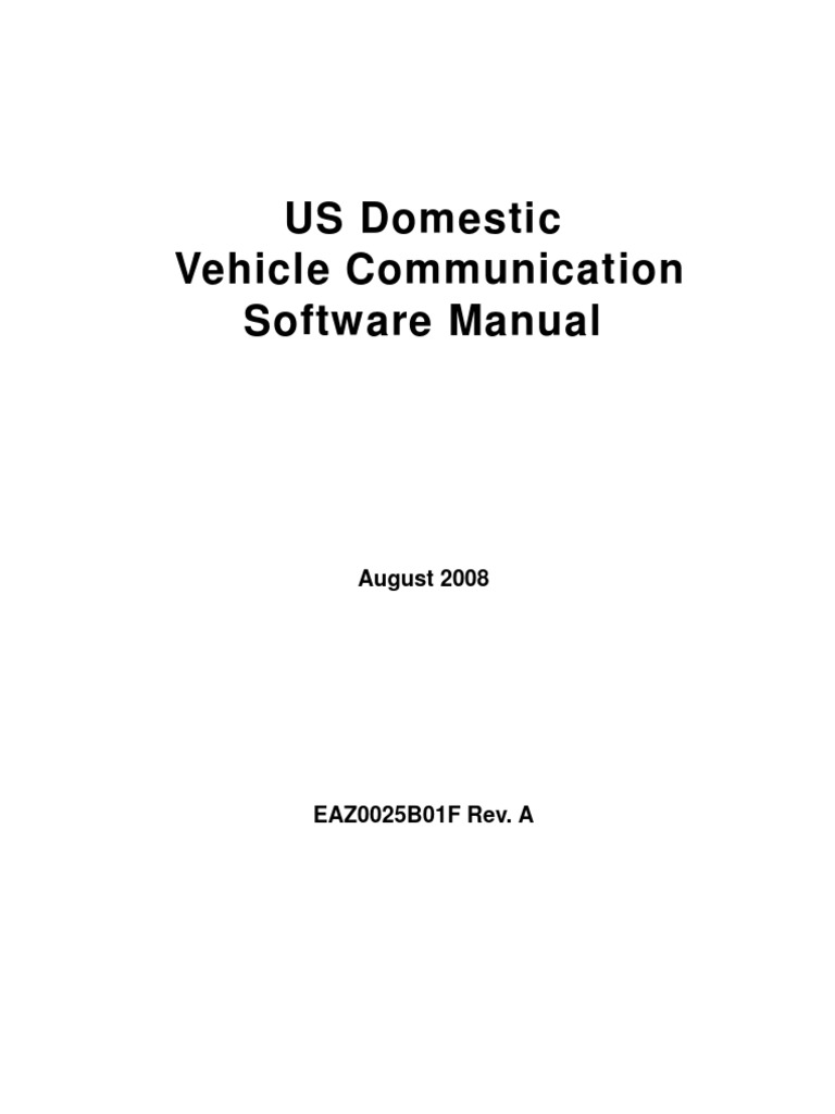 Us Domestic Vehicle Communication Software Manualpdf Personally A606 42le Transmission Wiring Diagram Identifiable Information Damages