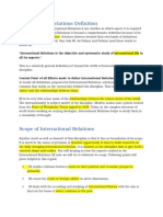 Notes of International relations for CSS